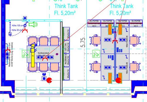 Beispiel für CAD-Darstellung der Tertiäranschlüsse