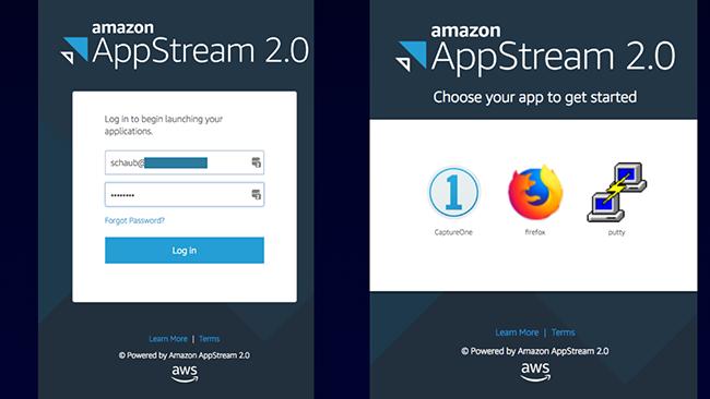 Login bei AppStream