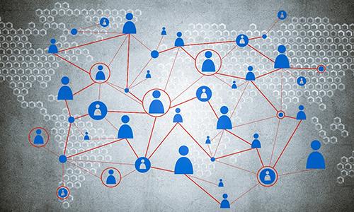 Moderne dynamische Netzwerk-Organisation